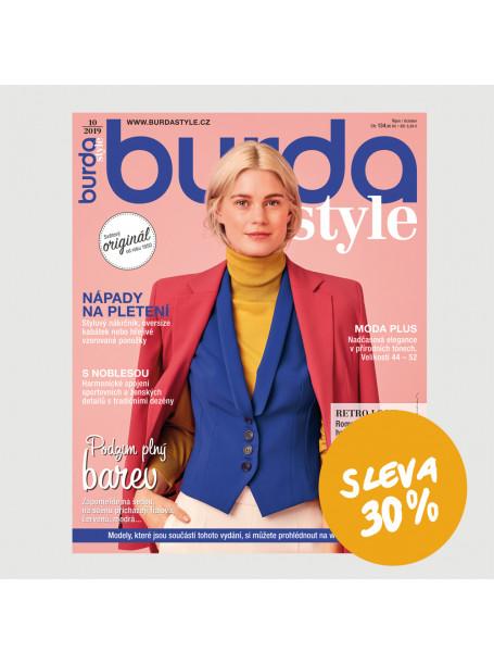 Roční  tištěné předplatné Burda Style se slevou 30%