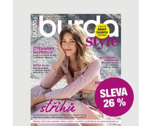 Roční tištěné předplatné Burda Style se slevou 26 %