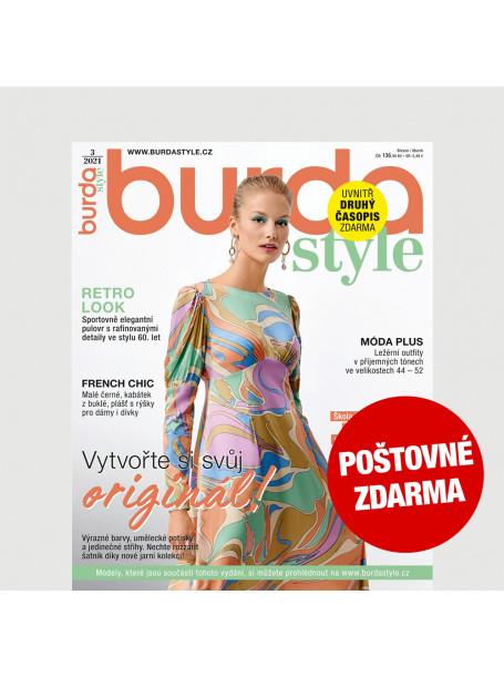 Aktuální vydání Burda Style 3/2021 POŠTOVNÉ ZDARMA (pouze pro ČR)