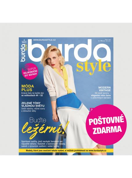 Aktuální vydání Burda Style 4/2021 POŠTOVNÉ ZDARMA (pouze pro ČR)