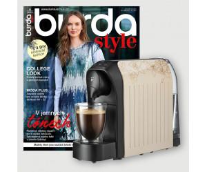Roční předplatné Burda Style + kávovar Tchibo Cafissimo Easy Light Beige